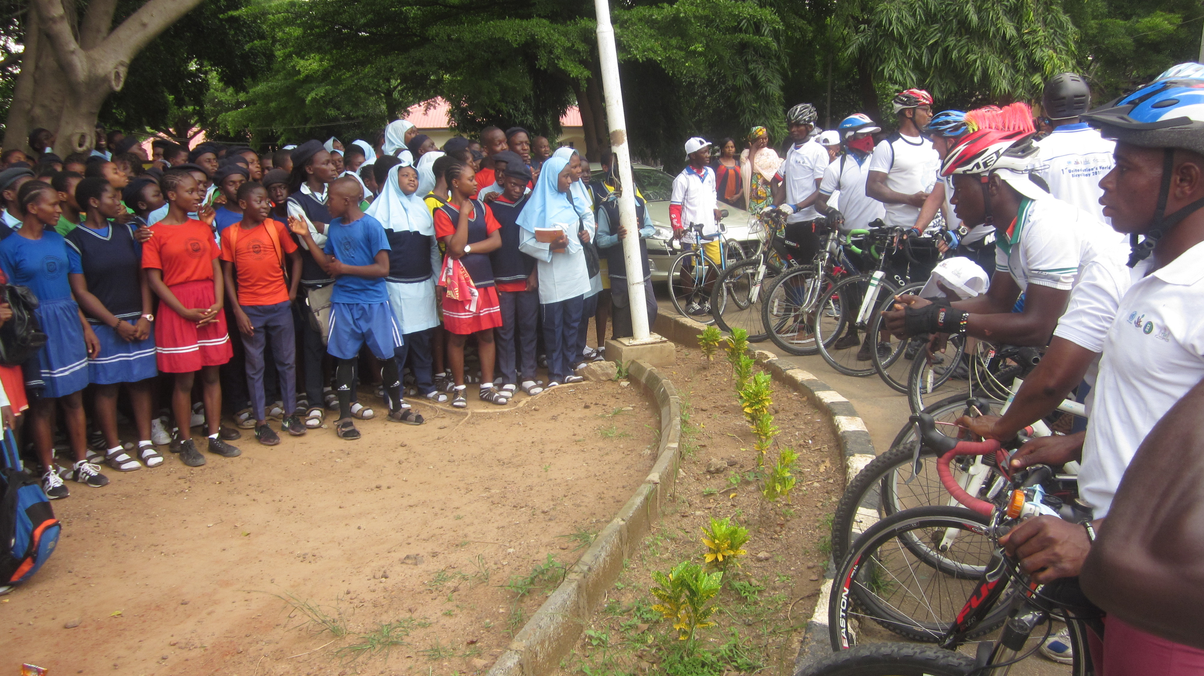 "Ochenuel Mobility Partners TGI, FRSC And Cycling Federation Of Nigeria To Host 1st UN World Bicycle Day, Launches A Cycle To School Campaign Tagged  ""Dad, Don't Drop Me Off, Buy Me A Bike Instead"""